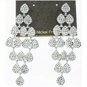 NWOT Carolee Pavé Kite Chandelier Earrings